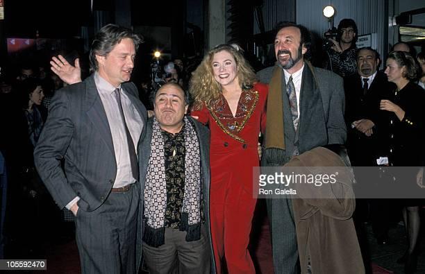 Michael Douglas, Danny DeVito, Kathleen Turner, and James Brooks