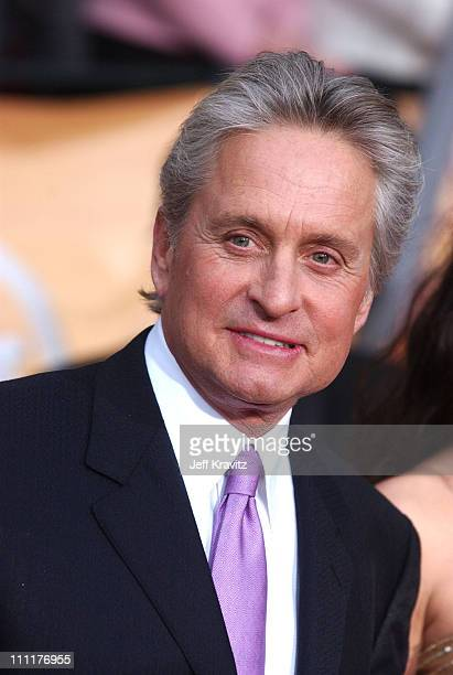 Michael Douglas during The 10th Annual Screen Actors Guild Awards Arrivals at The Shrine Auditorium in Los Angeles California United States