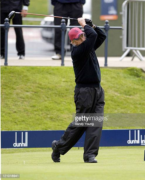 Michael Douglas during the second round of the Dunhill Links Championship at St Andrews on September 30 2005