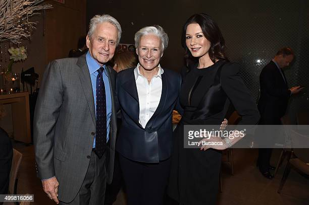 Michael Douglas Glenn Close and Catherine Zeta Jones attend the AARP Movies for Grownups Gala Countdown Lunch with actor/producer Michael Douglas...