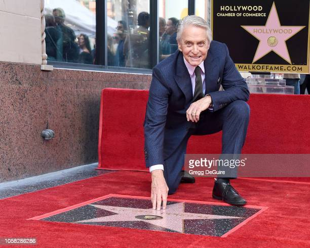 Michael Douglas Honored With a Star On The Hollywood Walk Of Fame on November 6 2018 in Hollywood California