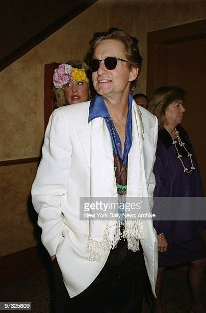 Michael Douglas is on hand at Bette Midler's Aloha Ball at the Manhattan Center When asked about his costume he replied that he didn't know what it...