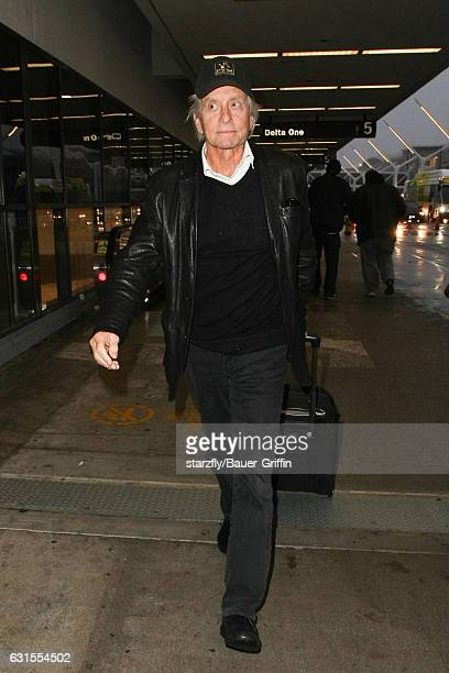 Michael Douglas is seen at LAX on January 12 2017 in Los Angeles California