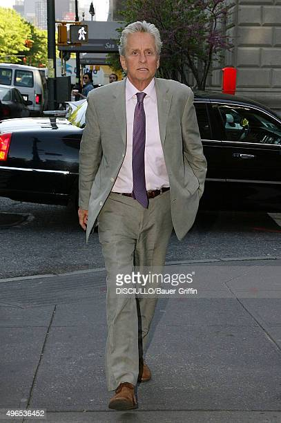 Michael Douglas is seen at Marea restaurant on May 09 2011 in New York City