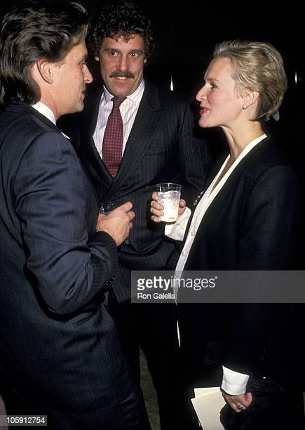Michael Douglas John Starke and Glenn Close during The 1988 DW Griffith Awards at Lincoln Center Library in New York City New York United States