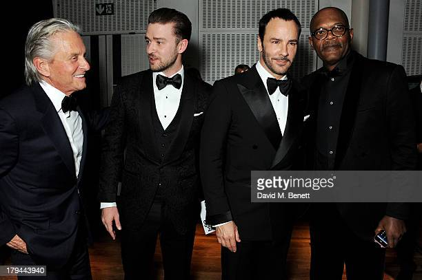 Michael Douglas Justin Timberlake Tom Ford and Samuel L Jackson attend the GQ Men of the Year awards at The Royal Opera House on September 3 2013 in...