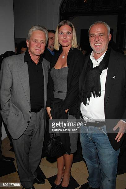 Michael Douglas Marjorie Fritz and Dr Cem Kinay attend Dellis Cay NY launch party at Neue Gallerie NYC on January 23 2007
