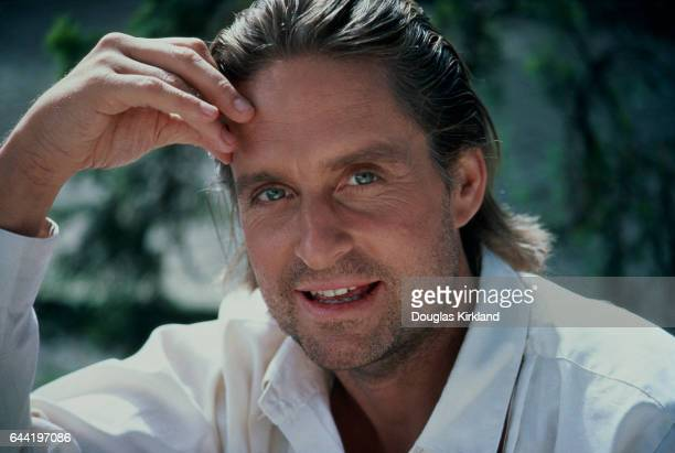Michael Douglas promotion shot for the 1984 film Romancing the Stone Douglas plays the role of Jack Colton and costars with Kathleen Turner who plays...