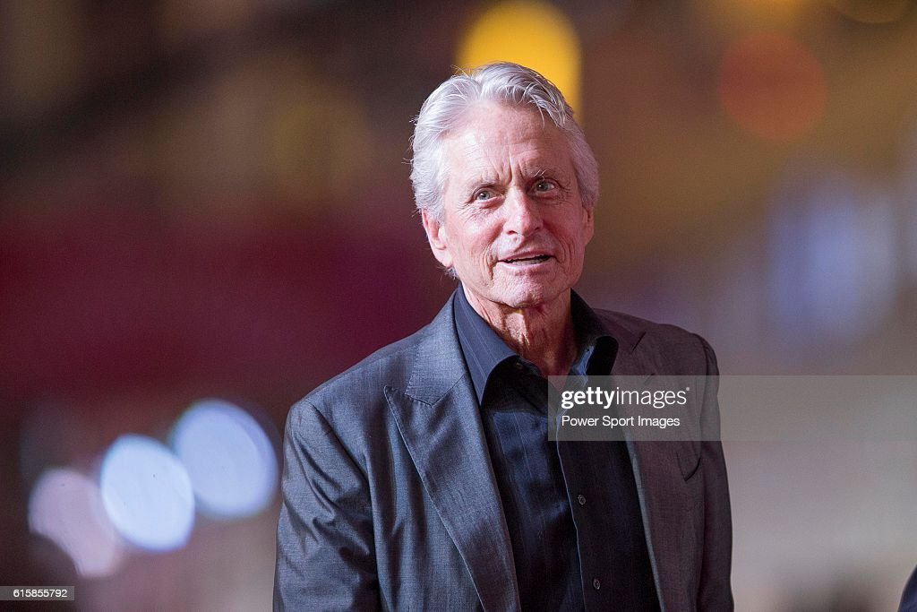 Michael Douglas walks the Red Carpet event at the World Celebrity Pro-Am 2016 Mission Hills China Golf Tournament on October 20, 2016 in Haikou, China.