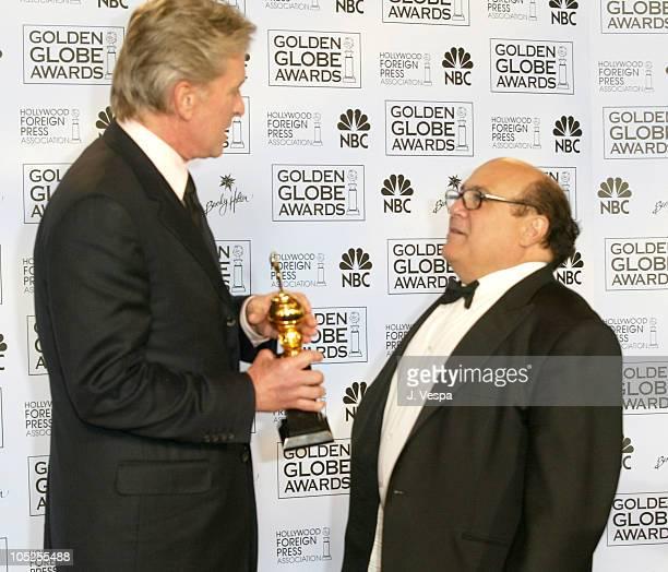 Michael Douglas winner of the Cecil B DeMille Award and Danny Devito