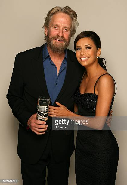 Michael Douglas winner of Young Hollywood's Role Model and Eva Longoria presenter **EXCLUSIVE**