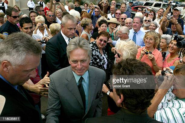 Michael Douglas with fans during A Douglas Family Celebration Presented by Palm Springs International Film Society and Film Festival at Annenberg...