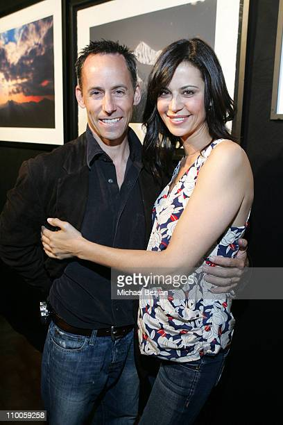 Michael Doven and Catherine Bell during Michael Doven's Photography Exhibition hosted by Point De Vue March 15 2007 at Point De Vue in West Hollywood...