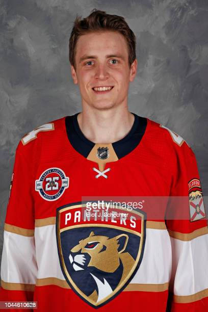 Michael Downing of the Florida Panthers poses for his official headshot for the 20182019 season on September 13 2018 at the BBT Center in Sunrise...