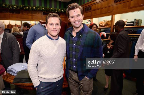 Michael Doyle and Andrew Rannells attend as Brooks Brothers celebrates the holidays with St Jude Children's Research Hospital on December 12 2017 in...