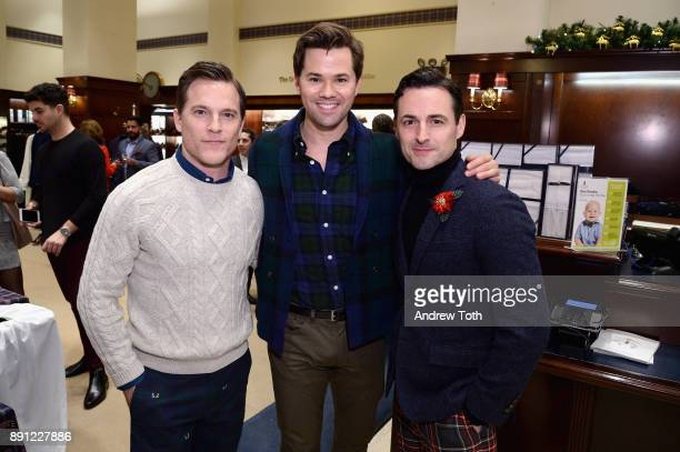 Michael Doyle Andrew Rannells and Max von Essen attend as Brooks Brothers celebrates the holidays with St Jude Children's Research Hospital on...