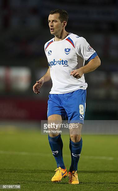 Michael Doyle of Portsmouth in action during the Sky Bet League Two match between Northampton Town and Portsmouth at Sixfields Stadium on December 19...