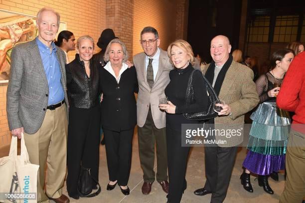 Michael Druckman Nancy Druckman Joyce Cowin Philip Buckner Alan Weissman and Shelia Weissman attend the Andy Warhol Museum Cocktail Party on November...