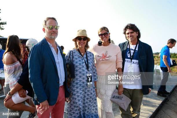 Michael Drury Melinda Hacket Cricket and Richard Burns attend 'The Bridge' 2017 on September 16 2017 in Bridgehampton New York