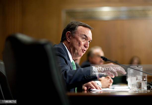 Michael Duke president and chief executive officer of WalMart Stores Inc testifies to the Senate Finance Committee in Washington DC US on Wednesday...
