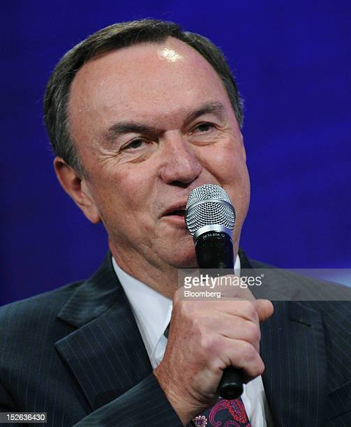 Michael Duke president chief executive officer of WalMart Stores Inc speaks at the Clinton Global Initiative in New York US on Sunday Sept 23 2012...