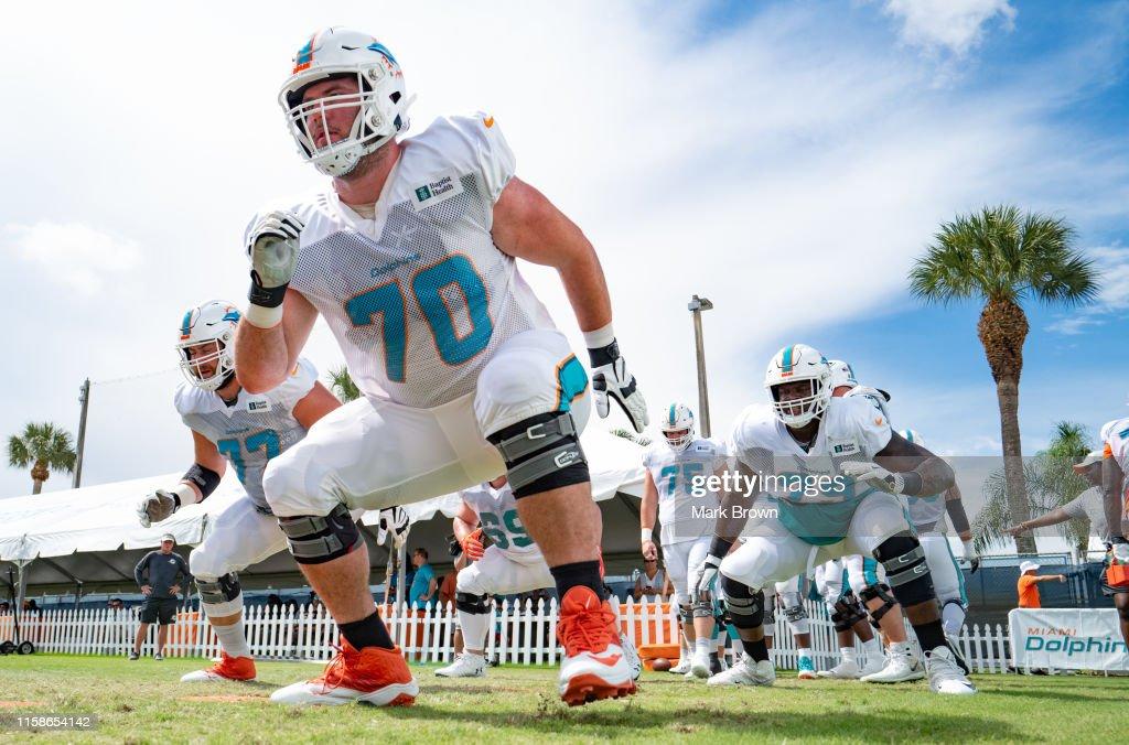 Miami Dolphins Training Camp : News Photo