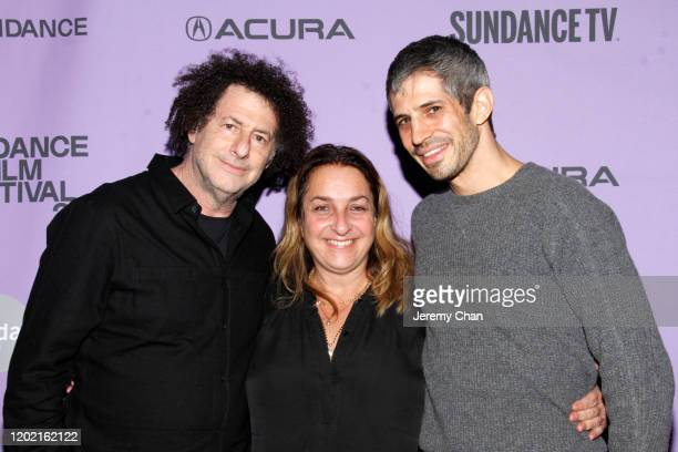Michael Dweck Caroline Libresco and Gregory Kershaw attend the 2020 Sundance Film Festival The Truffle Hunters Premiere at Prospector Square Theatre...