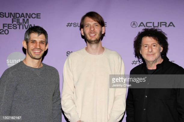 Michael Dweck Charlie Sextro and Gregory Kershaw attend the 2020 Sundance Film Festival The Truffle Hunters Premiere at Prospector Square Theatre on...