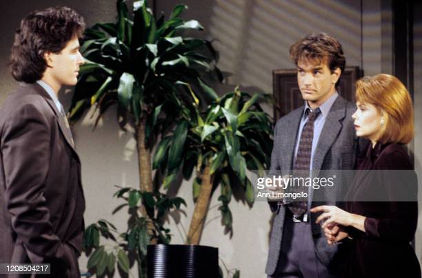 "Michael E. Knight , John Callahan and Julia Barr in a scene on ABC Daytime's ""All My Children."" ""All My Children"" airs Monday-Friday on the ABC..."