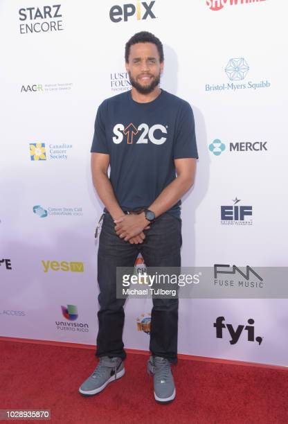Michael Ealey attends the 2018 Stand Up To Cancer fundraising special telecast at Barker Hangar on September 7 2018 in Santa Monica California