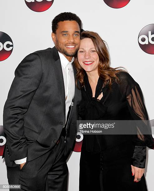 Michael Ealy and Lili Taylor attend the Disney/ABC 2016 Winter TCA Tour at Langham Hotel on January 9, 2016 in Pasadena, California.