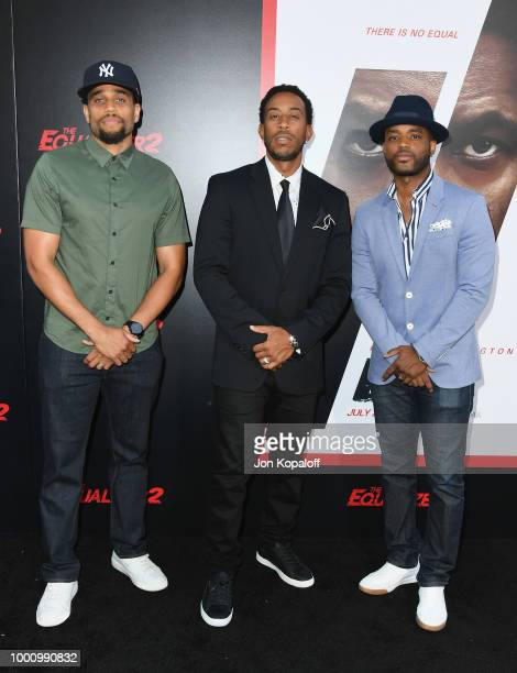 Michael Ealy Chris 'Ludacris' Bridges and Larenz Tate attend premiere of Columbia Picture's 'Equalizer 2' at TCL Chinese Theatre on July 17 2018 in...