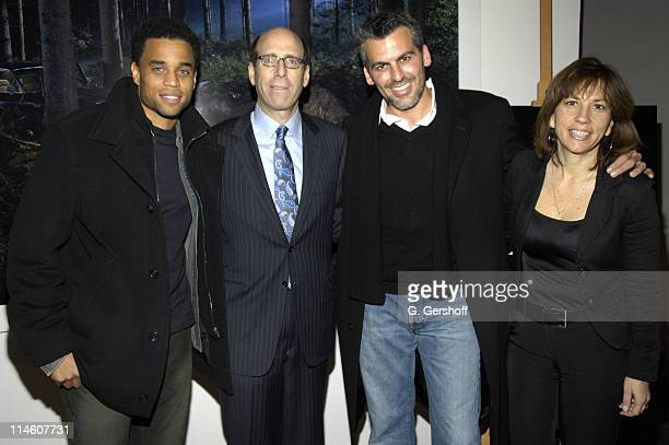 Michael Ealy Matt Blank Chief Executive Officer of Showtime Oded Fehr and Robin Bronk Executive Director of The Creative Coalition