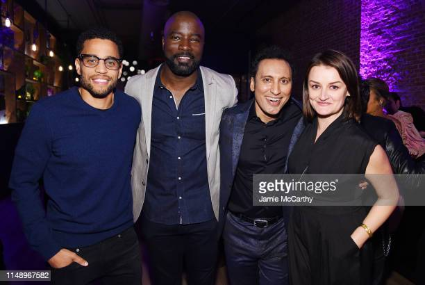 Michael Ealy Mike Colter Aasif Mandvi and Alison Wright attends the Entertainment Weekly PEOPLE New York Upfronts Party on May 13 2019 in New York...