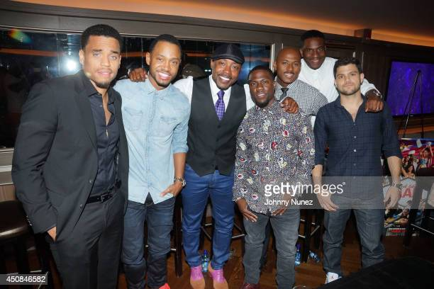 Michael Ealy Terrence Jenkins Will Packer Kevin Hart Romany Malco James Lopez and Jerry Ferrara attend A Conversation With The Men Of Think Like A...