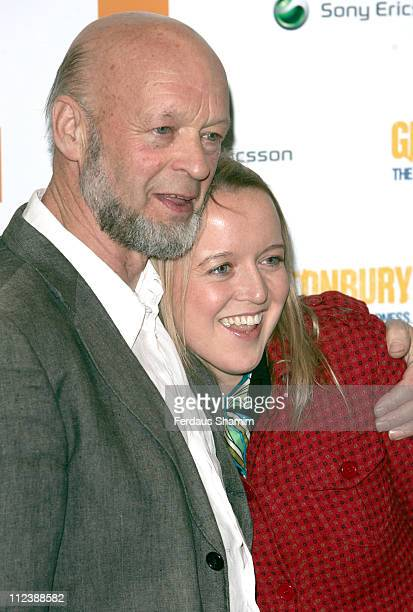 Michael Eavis with his daughter Emily Eavis during 'Glastonbury' London Premiere at Prince Charles Cinema in London Great Britain