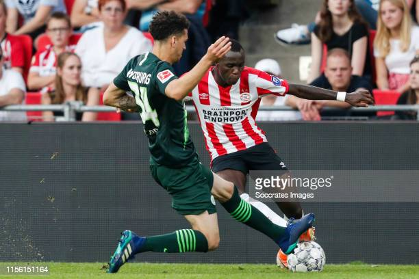 Michael Edwards of VFL Wolfsburg, Bruma of PSV during the match between PSV v Wolfsburg at the Philips Stadium on July 17, 2019 in Eindhoven...