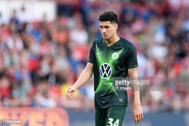 Michael Edwards of VfL Wolfsburg looks on during the pre-season friendly match between PSV Eindhoven and WfL Wolfsburg at Philips Stadion on July 17,...