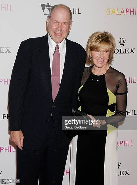 Michael Eisner and Jane Breckenridge arrive at the Los Angeles Philharmonic Inaugural Gala on October 8 2009 in Los Angeles California