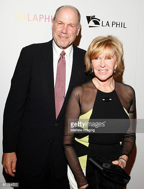 Michael Eisner and Jane Breckenridge arrive at the Los Angeles Philharmonic Opening Night Gala held at Walt Disney Concert Hall on October 8 2009 in...