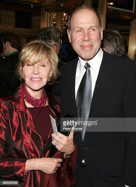 Michael Eisner and wife Jane Breckenridge attend a gala performance of the Phantom of the Opera at the Majestic Theatre January 9 2006 in New York...