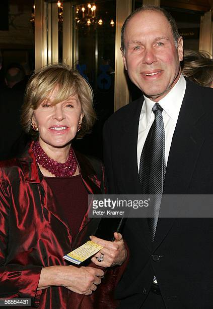 Michael Eisner and wife Jane Breckenridge attend the Special Gala for the 7486th performance of Phantom Of The Opera at the Majestic Theater in New...