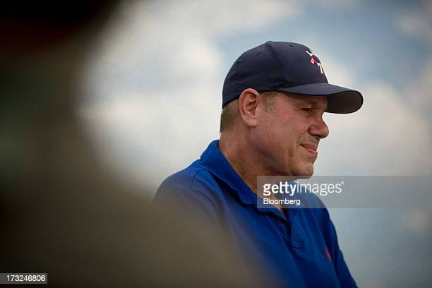 Michael Eisner chairman of Tornante Co LLC speaks during a Bloomberg Television interview on the sidelines of the Allen Co Media and Technology...