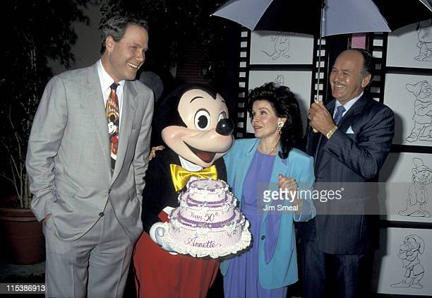 Michael Eisner Mickey Mouse Annette Funicello and husband