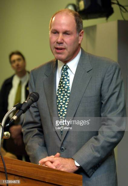 Michael Eisner President and CEO of the Walt Disney Company during a press conference announcing a $7 million donation by the Eisner Foundation to...