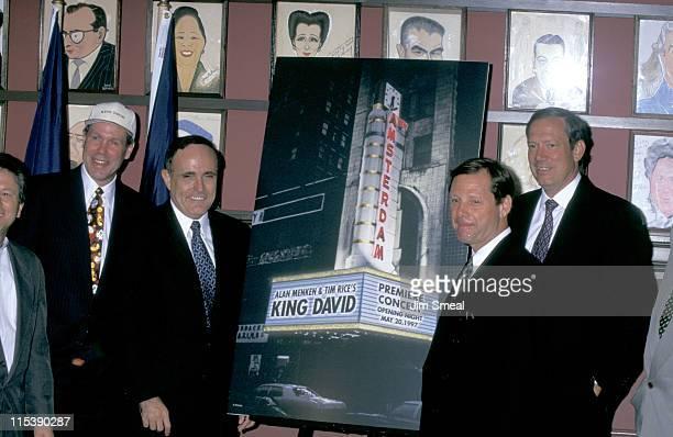 Michael Eisner Rudolph Giuliani Michael Ovitz and George Pataki