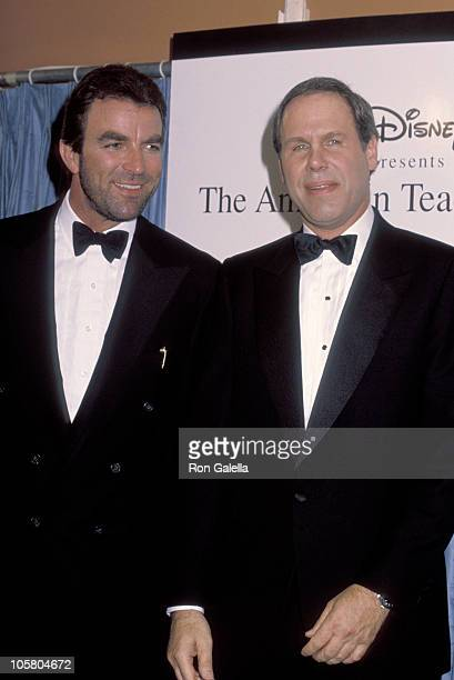 Michael Eisner Tom Selleck during The 1st Annual American Teacher Awards at The Pantages Theater in Hollywood California United States