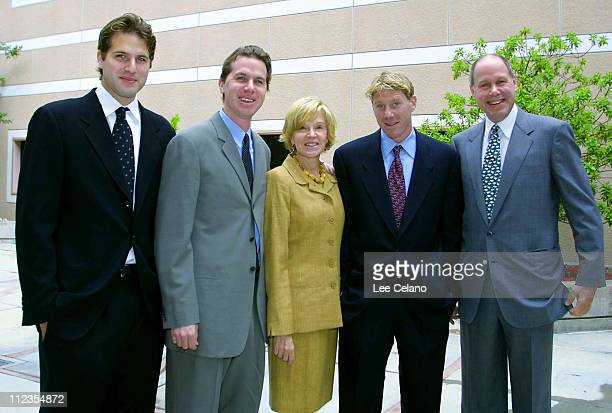 Michael Eisner wife Jane and sons during Michael Eisner Makes Donation to California State University Northridge at California State University...