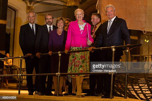 Michael Eissenhauer Hermann Parzinger President of the Prussian Cultural Heritage Foundation German First Lady Daniela Schadt Queen Margrethe II of...