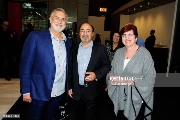 Michael Elias Glenn Dranoff and Gina Elias attend the IFPDA Fine Art Print Fair Opening Preview at The Jacob K Javits Convention Center on October 25...